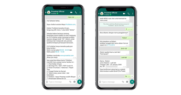 "Dinkes DKI Gandeng Prosehat yang Didukung Botika Melalui Aplikasi Chatbot  Online untuk ""Jakarta Tanggap Covid-19"" | Botika | Answering Opportunity"